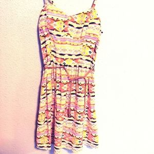 Love Reign Fitted Dress Aztec with braided belt